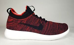 6790076e67762 918263-601 Nike Mens Roshe Two Flyknit V2 Chile Red Black-Bordeaux ...