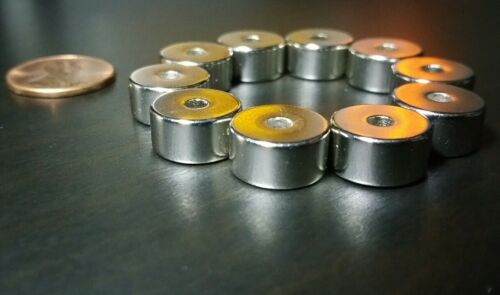"10 Neodymium N52 Ring Magnets Super Strong Rare Earth 1//2/"" x 1//4/"" Diametric Pole"