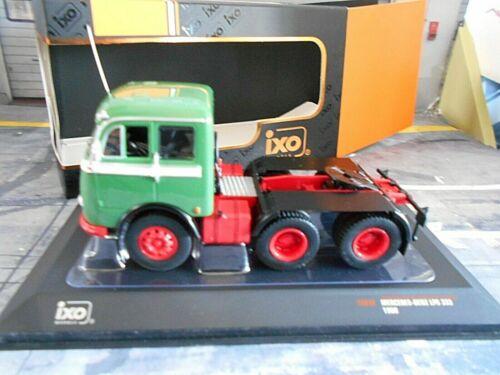 MERCEDES BENZ LPS 333 grün rot 1960 Truck LKW Camion Zugmaschine IXO NEU 1:43