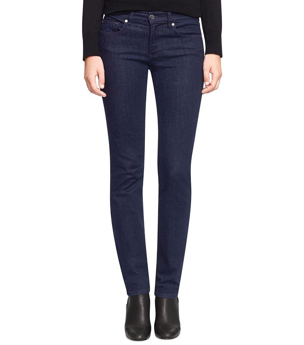Tory Burch Super Skinny Stretch Jeans Dark bluee Indigo sz. 23 (24.5  waist) NWOT