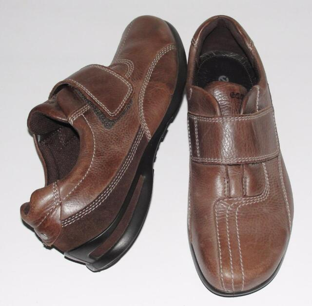 ECCO~DISTRESSED BROWN~SOFT PEBBLED LEATHER~COMFORT OXFORD SNEAKERS SHOES~39