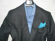 GIEVES & HAWKES VTGE Men's Navy Pindot Two Button 100% Wool Suit 44L 38Wx31