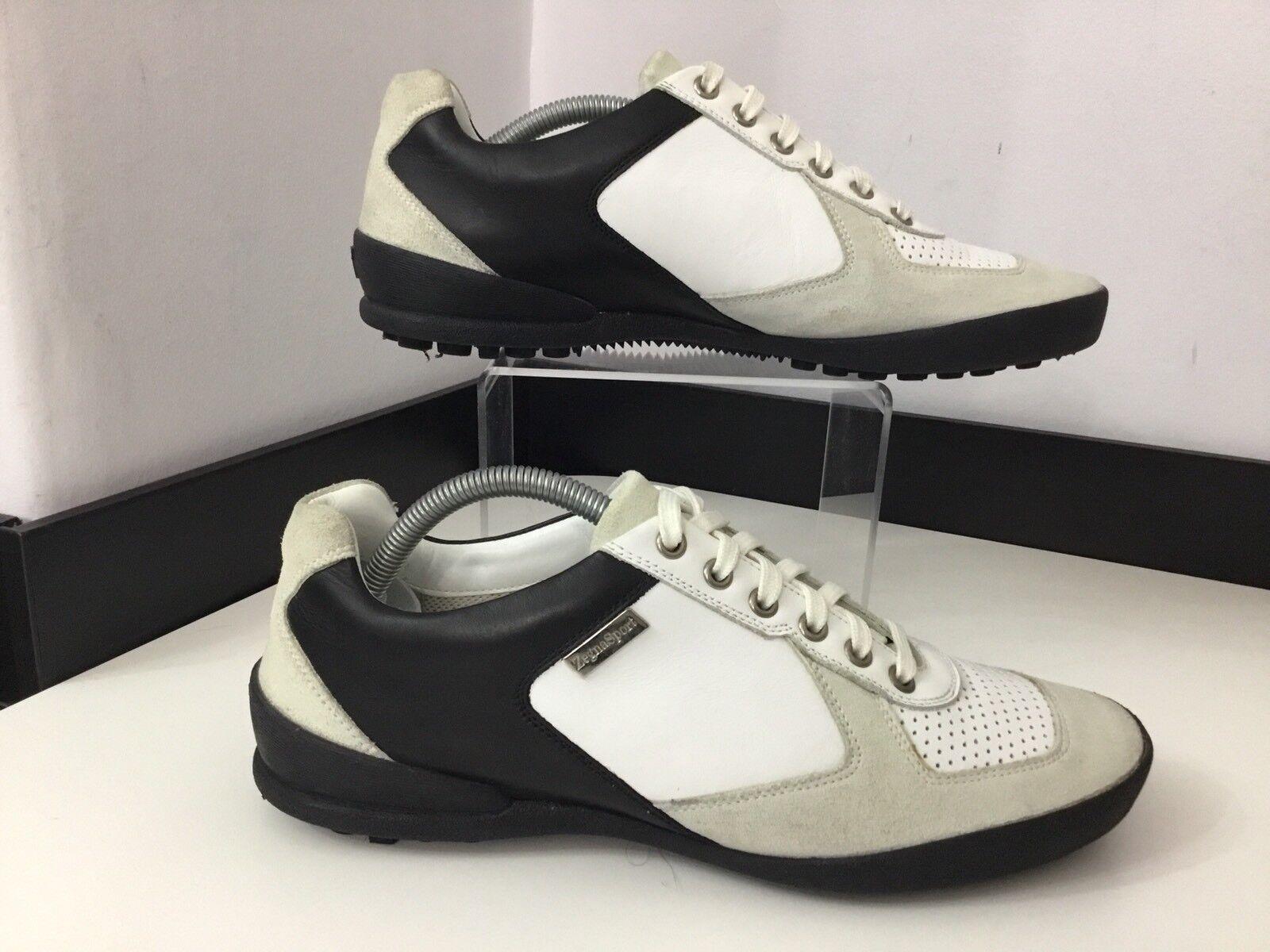 ZEGNA Sport Para Hombre Zapatillas, Zapatillas, Reino Unido 5 Eu39, Cuero blancoo, Inmaculada