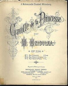 A-Czibulka-Gavotte-de-la-Princesse-alte-uebergrosse-Noten