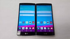 Lot of 2 LG G4 - 32GB - Mettalic Black (Verizon) Smartphone (Unlocked) 2 Total