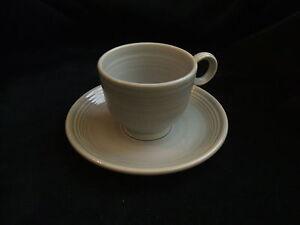 Vintage-Fiesta-Ware-Grey-Gray-Tea-Cup-and-Saucer-Fiestaware-Teacup