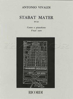 Vivaldi Stabat Mater Vocal Score Sheet Music Book Voice & Piano 9790041315652 Sheet Music & Song Books