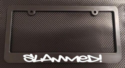 jdm vip coilovers stance ill License Plate Frame Black Slammed Choose Color!