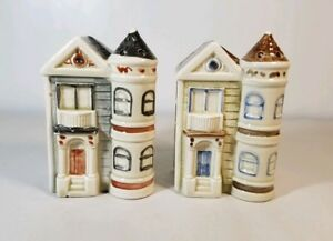 OMC-Otagiri-Victorian-House-Salt-and-Pepper-Shakers-1981-Collectible-Decor