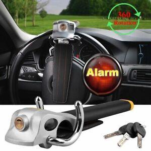 Anti-Theft-Lock-Car-Vehicle-Top-Mount-Steering-Wheel-Security-Airbag-3-Keys-UK