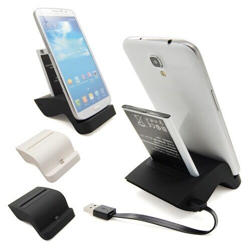 Data Sync Charging Dual Charger Dock Cradle For Samsung Galaxy Mega 6.3 i9200