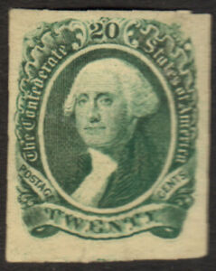 Confederate States 13 (SCV$45.00) VF, unused, (*), 1863