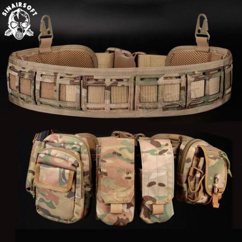 Tactical Molle Waist Belt Military Padded Patrol Molle Combat Battle Web Belt