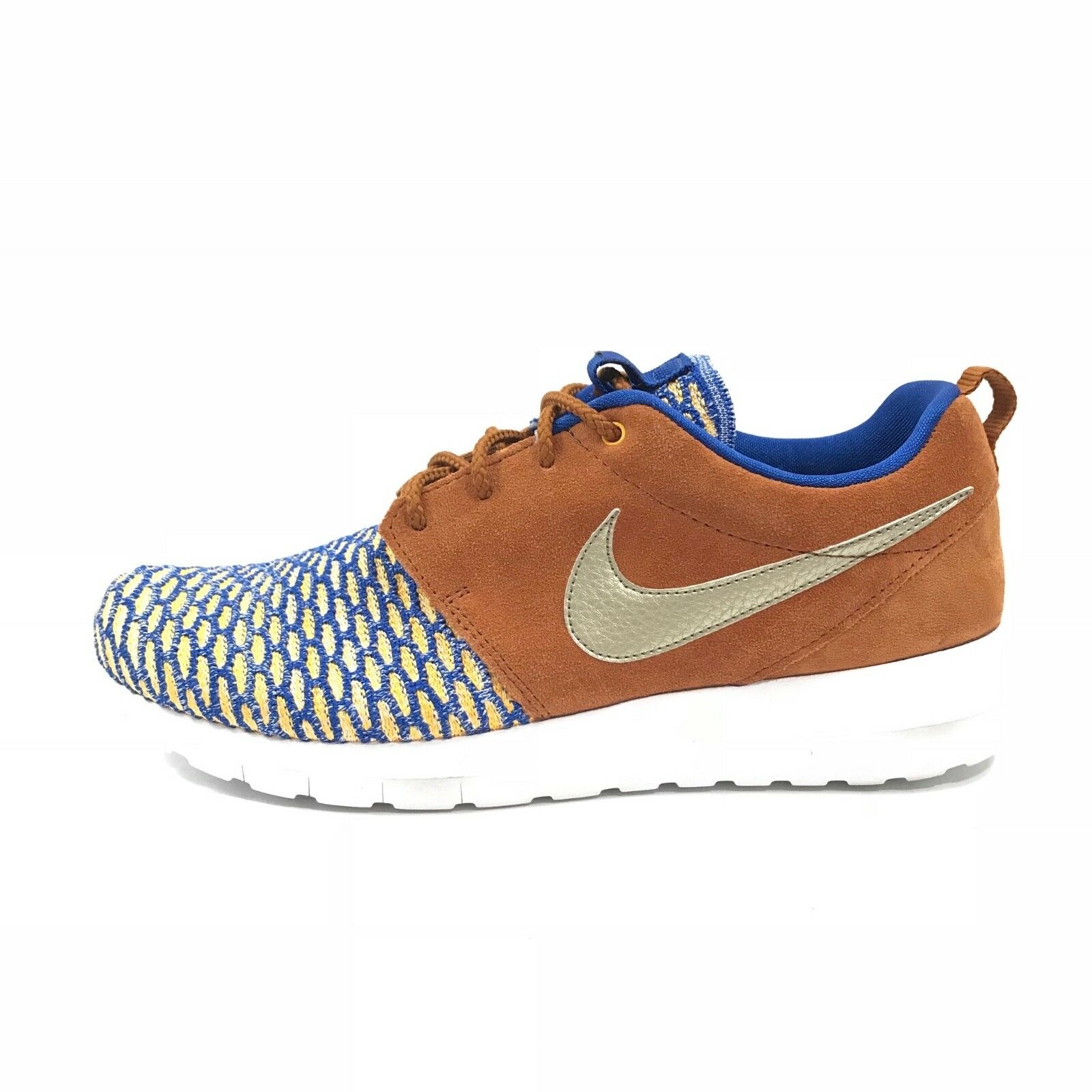 Nike Mens Roshe Flyknit Tawny PRM Premium Game Royal Metallic Sz 8.5 746825-402