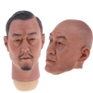 1//6 Scale Male Head Sculpture Black Hair Model for 12inch Action Figure A-25