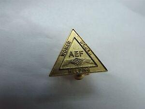 American Legion Women Helping Women AEF Triangle Gold Tone Lapel/Hat Pin