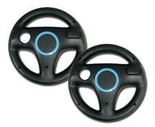 2x Pack Generic Mario Kart Racing Steering Wheel For Wii Games Black