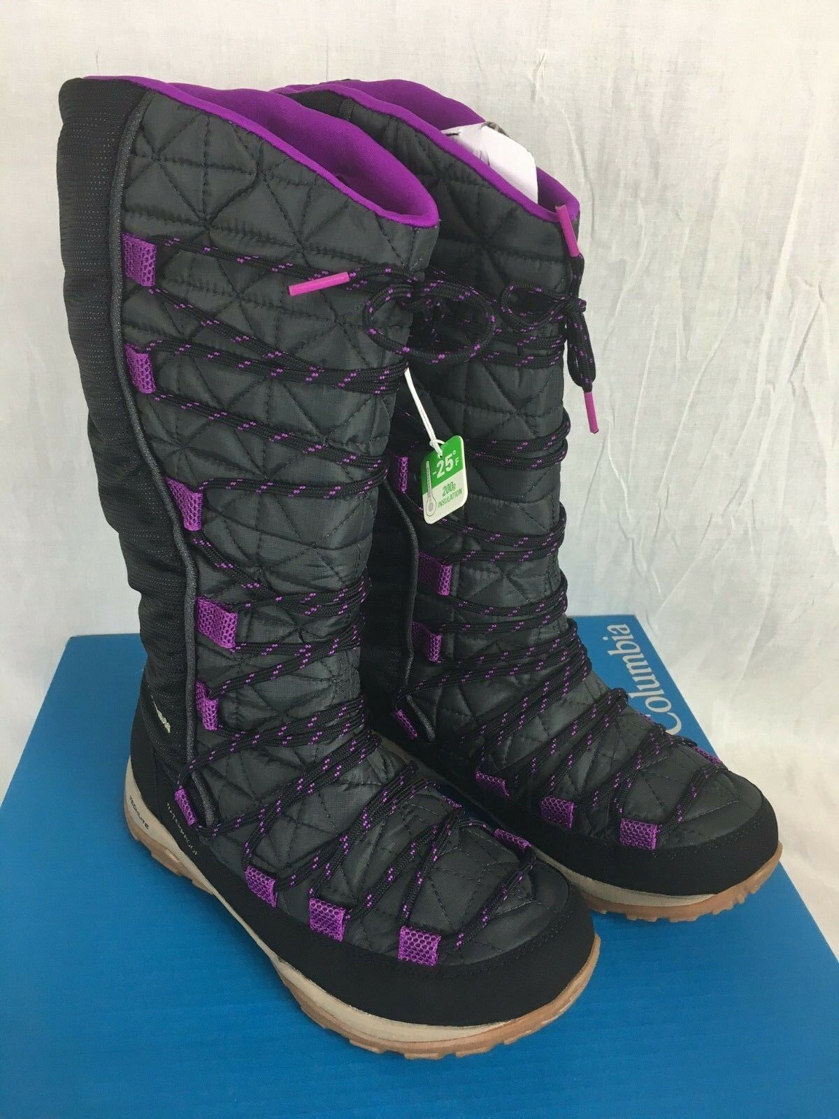 NEW COLUMBIA LOVELAND WATERPROOF Stiefel SHARK PLUM Damenschuhe INSULATED WATERPROOF LOVELAND WINTER SNOW 415c0d