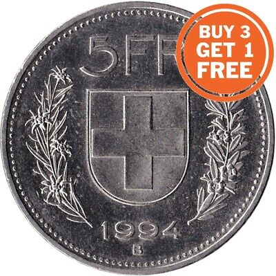 5 Swiss Franc Coin Choice Of Dates 1922