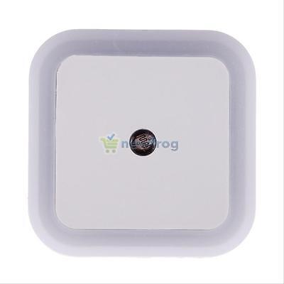 Auto LED Light Induction Sensor Control Bedroom Night Lights Bed Lamp US EU Plug