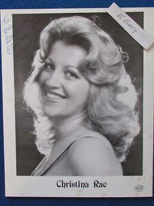 HAND-SIGNED-Christina-Rae-10-034-x8-034-Press-Promo-Photo-Card-1983