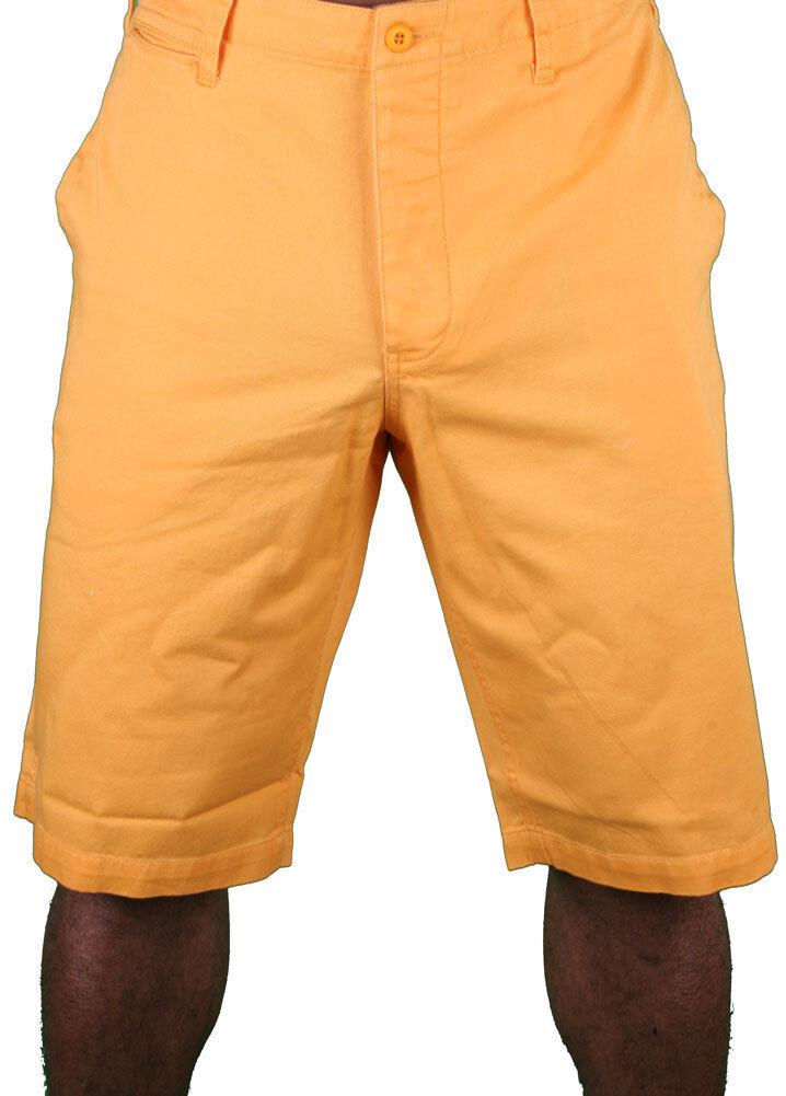 Hawke & Dumar Tab Detail Twill Rustic orange Walk Summer Shorts HD1250503 NWT