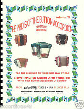 """BUTTON ACCORDION BOOK ,""""NOTHIN' LIKE MUSIC & FRIENDS"""" EASY PLAY BY NUMBERS"""