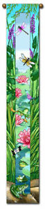 """40/"""" DRAGONFLY FROG Bell Pull Tapestry Wall Hanging"""
