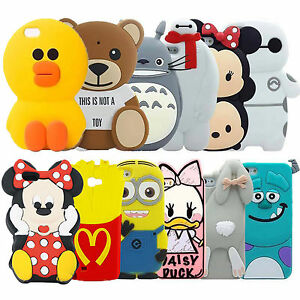 Cartoon-Animals-Silicone-Rubber-Gel-Tpu-Case-Cover-Skin-For-iPhone-4s-5s-5c-6-6s