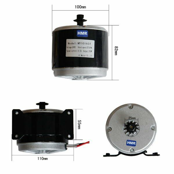 Hmparts E-Scooter Electric Motor with Mount 24v 350 W - Model  My1016