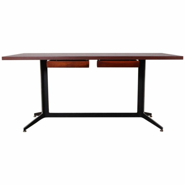 WARD BENNETT Lehigh Vtg Mid Century Danish Modern Walnut Wood Executive Desk