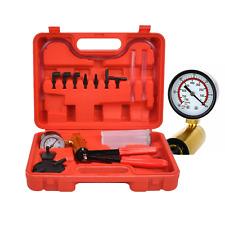 Car Hand Held Vacuum Pressure Pump Tester Kit Brake Fluid Bleeder Bleeding Tools