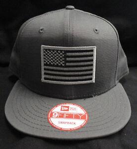 buy popular 6ccf9 647e2 Image is loading New-Era-NE400-Charcoal-Snapback-Hat-Cap-With-