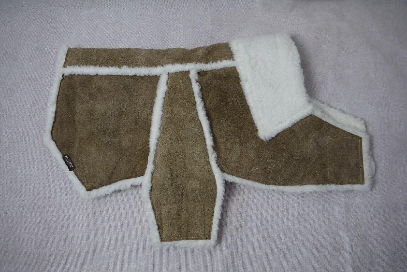Hailey & Oscar Suede Leather Dog Coat Größe - XXL ( 27 - 33  Chest )