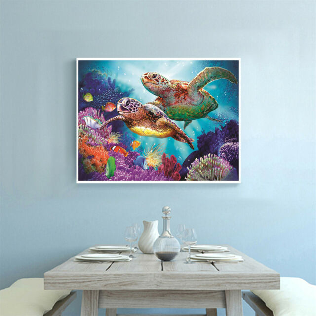 5D DIY Diamond Painting Sea Turtle handmade Embroidery Cross Stitch Decor giftAT