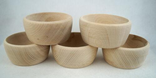 """Small wooden bowl RING Job Lot PIN DISH 4/"""" 10cm Set of 1,10,50,100"""