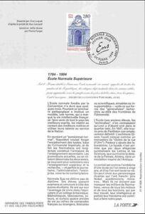 1994 Notice Philatélique - Ecole Normale Supérieure