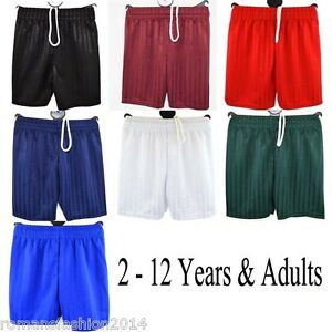 Boys-Girls-Children-039-s-School-Sports-Shadow-Stripe-PE-Shorts-Kids-Football-Gym-Uk