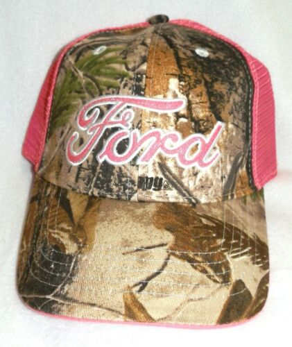 New Womens FORD baseball hat cap Adjustable Realtree Camo Pink Glitter