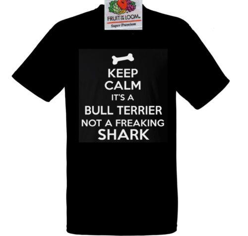 English Bull Terrier Dog T Shirt Not a Shark