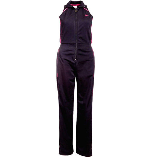 Nike cat suit womens all in one sport black tracksuit for Mercedes benz tracksuit