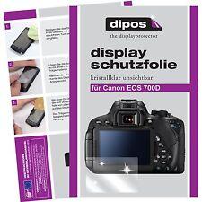 6x Canon EOS 700D Schutzfolie klar Displayschutzfolie Folie unsichtbar Display