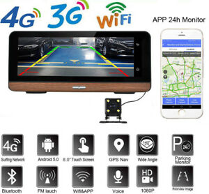 Details about 8'' Android 3G/4G Wifi Car DVR Camera GPS Navigation  Bluetooth Dashboard APP
