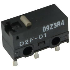 2 OMRON D2F-01 Mikroschalter 30VDC 100mA 1xUM 1,47N Stößel 12,6x6,5x5,8mm 855625