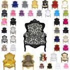polpoltrona trono sedie in stile barocco imperiale