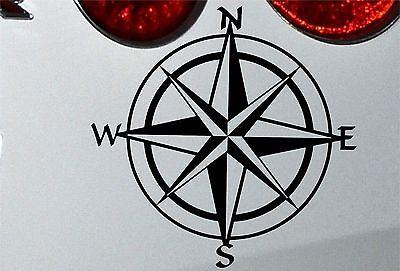 LARGE Compass Travel Wanderlust Vinyl Decal Sticker 210mm jap vw (bk)