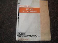 Massey Ferguson Mf 751 Pt Combine Parts Book Catalog Manual
