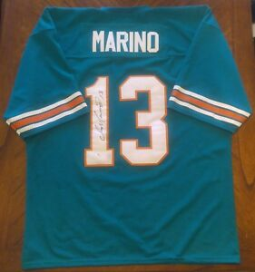 new product ff4bd a7f94 Details about Dan Marino Autographed Jersey Unbranded Possibly Game Worn  Certified