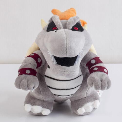 "Super Mario Bros Dry Bowser Bones Koopa Plush Toy Stuffed Animal Doll 10/"" Gift"