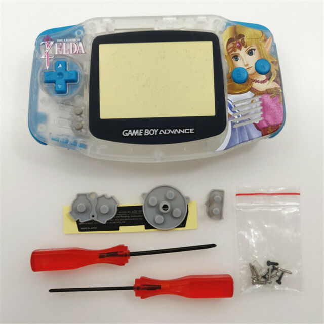 Zelda Princess Shell Case Housing for Game Boy Advance GBA - Clear White